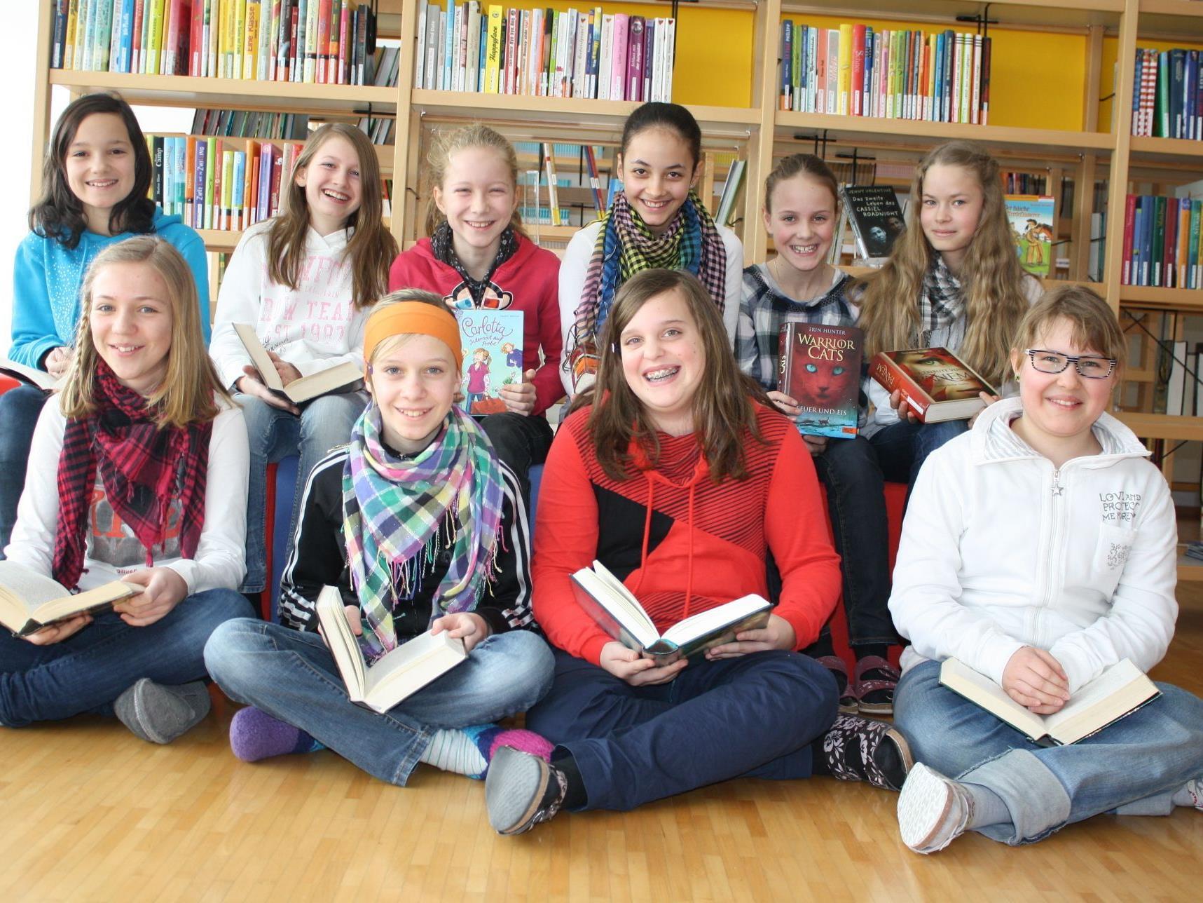 Großen Spaß beim Lesen hatten die Lingenauer Hauptschüler.