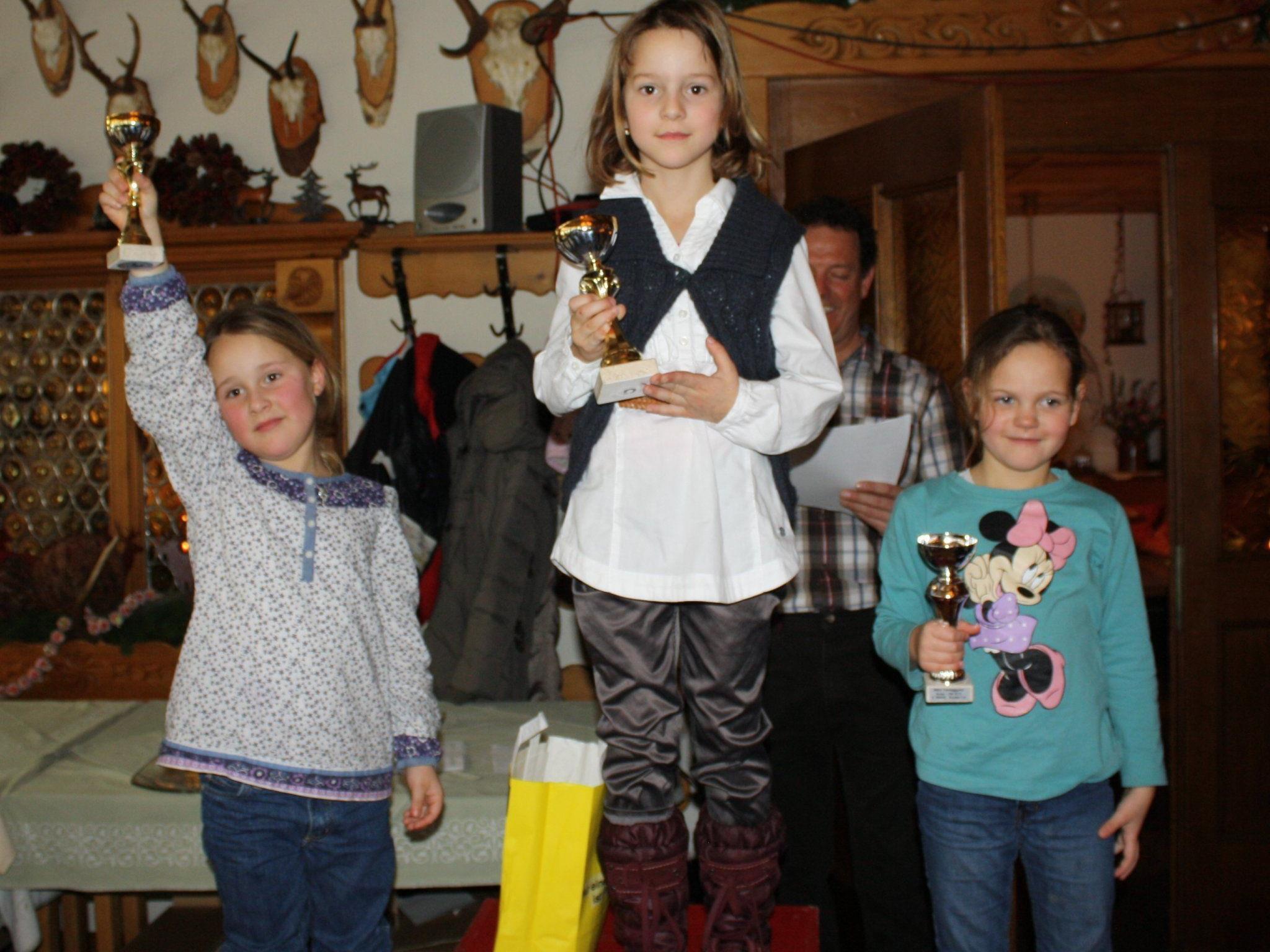 Emma, Theresa und Luisa freuten sich riesig über die ersten Plätze in der Gruppe Bambini 2