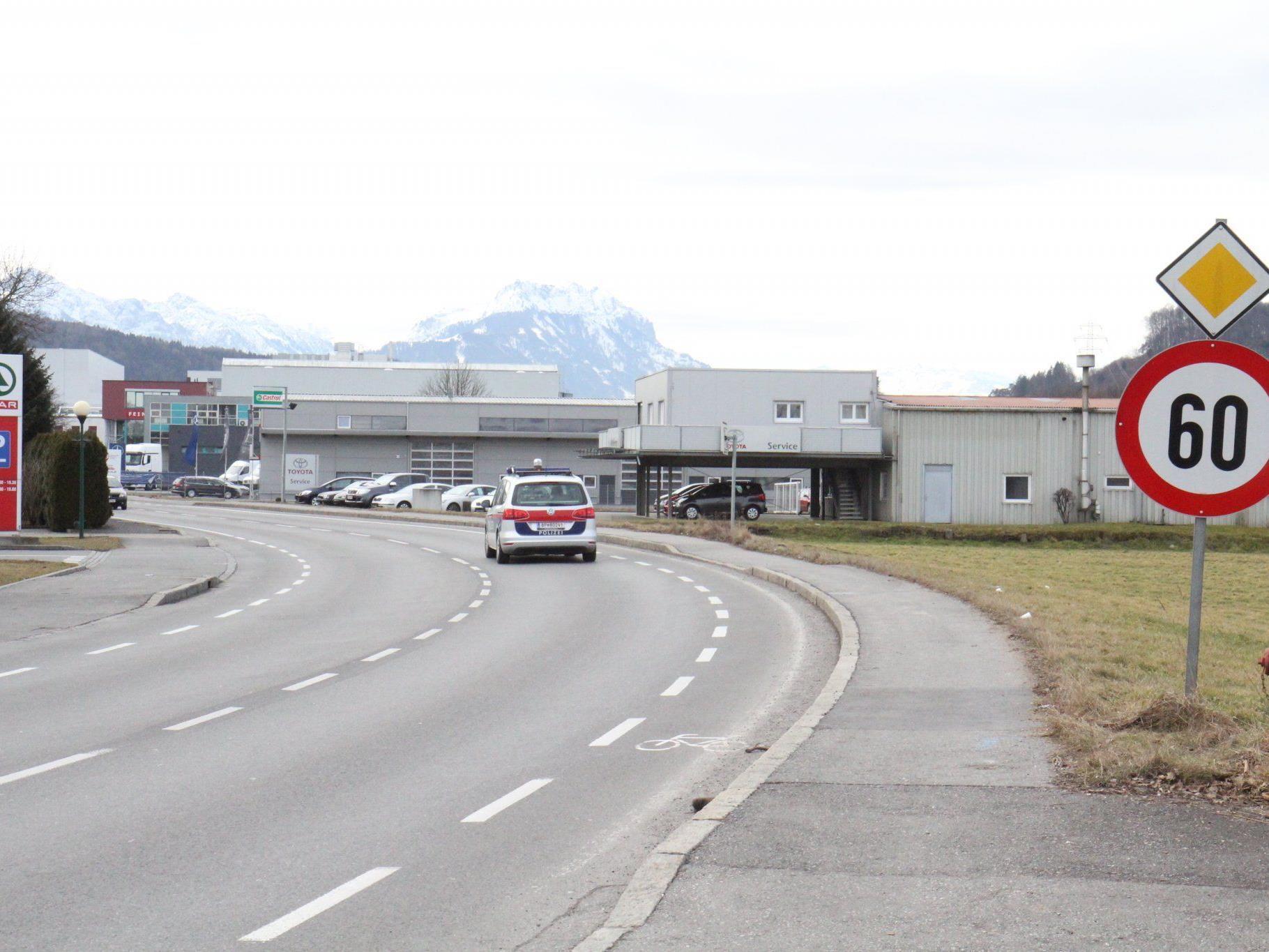 Götzis will Tempo 50 für Lastenstraße