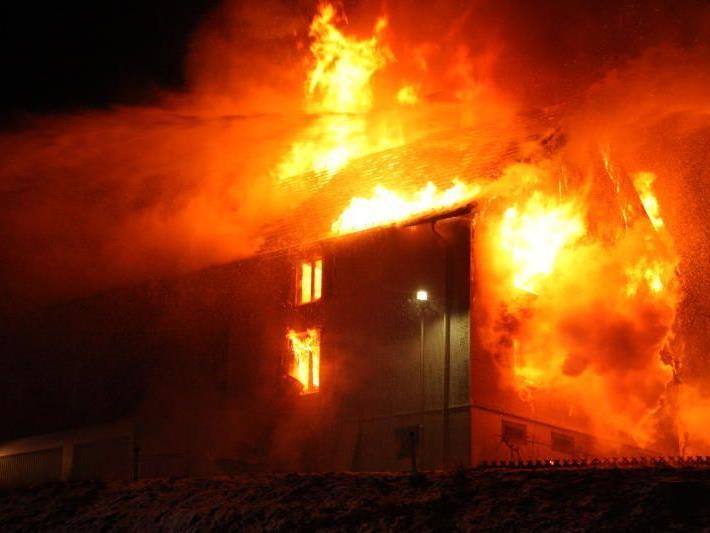 Wohnhaus in Lochau wurde Opfer der Flammen.