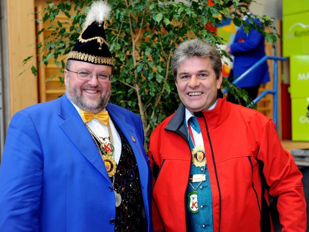 Günter Oberscheider beim dritten Landesnarrentag mit VVF-Präsident Ernst Schmid.