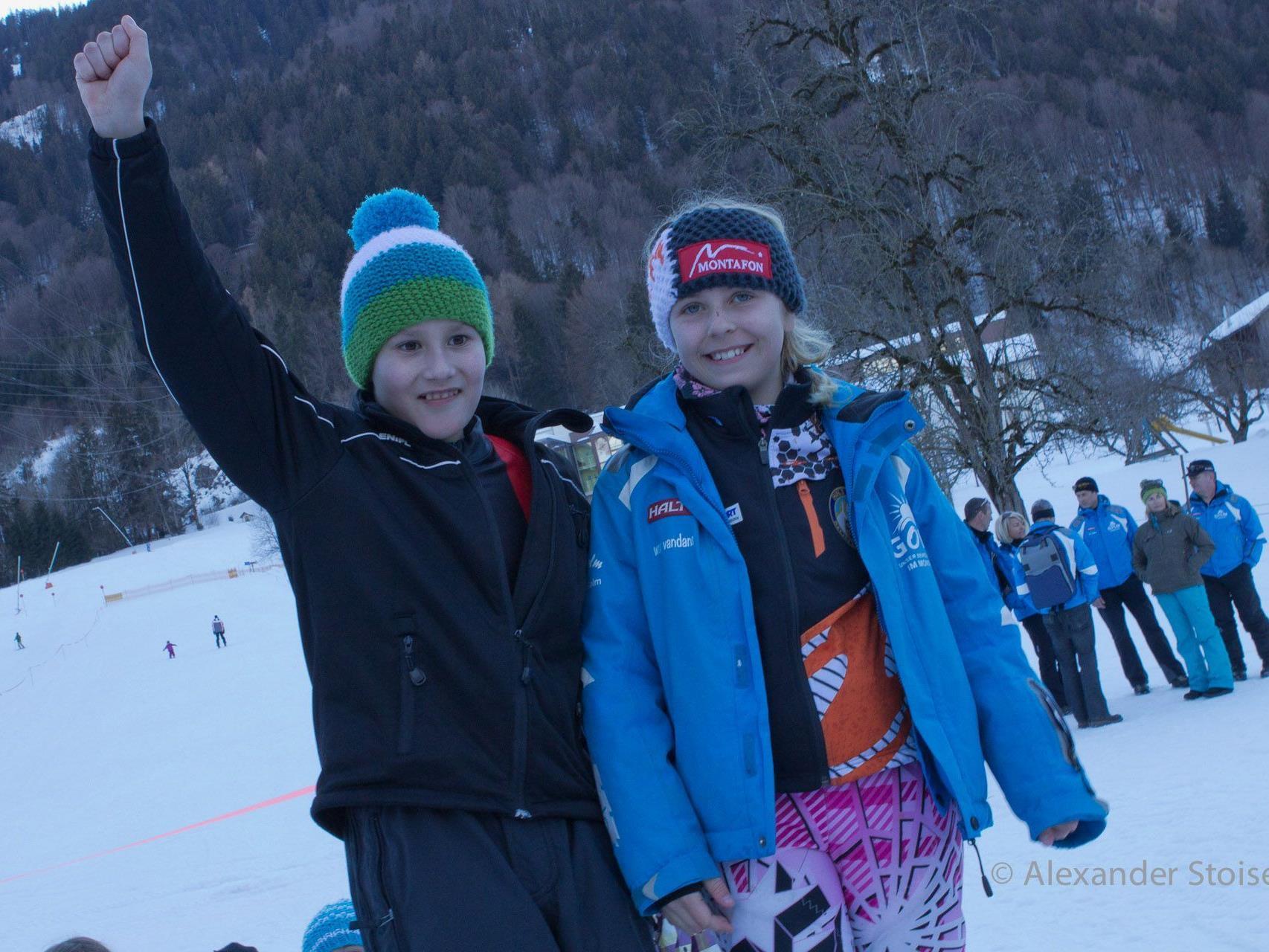 Schülermeister Miguel Neyer aus der 4b und Schülermeisterin Nina Kegele aus der 3a.