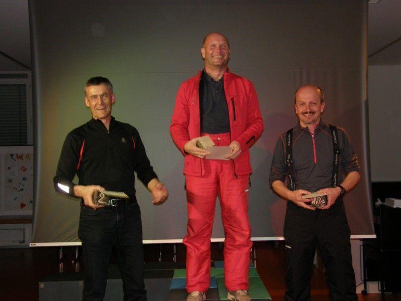 Rainer Zwischebrugger (Mitte) war der Tagesschnellste.