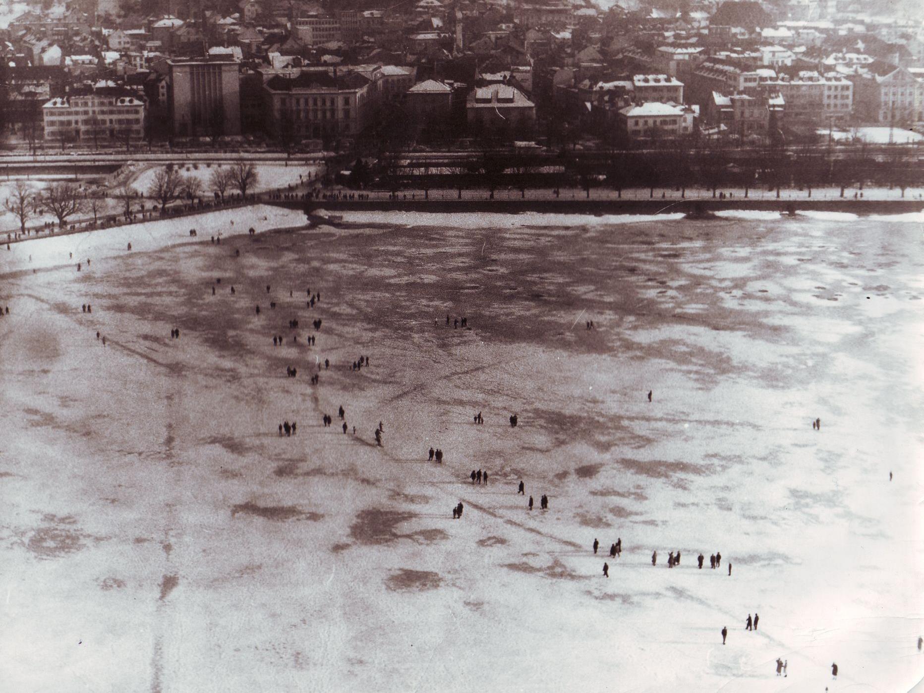 Eislaufen auf dem Bodensee: Die Chancen stehen schlecht.