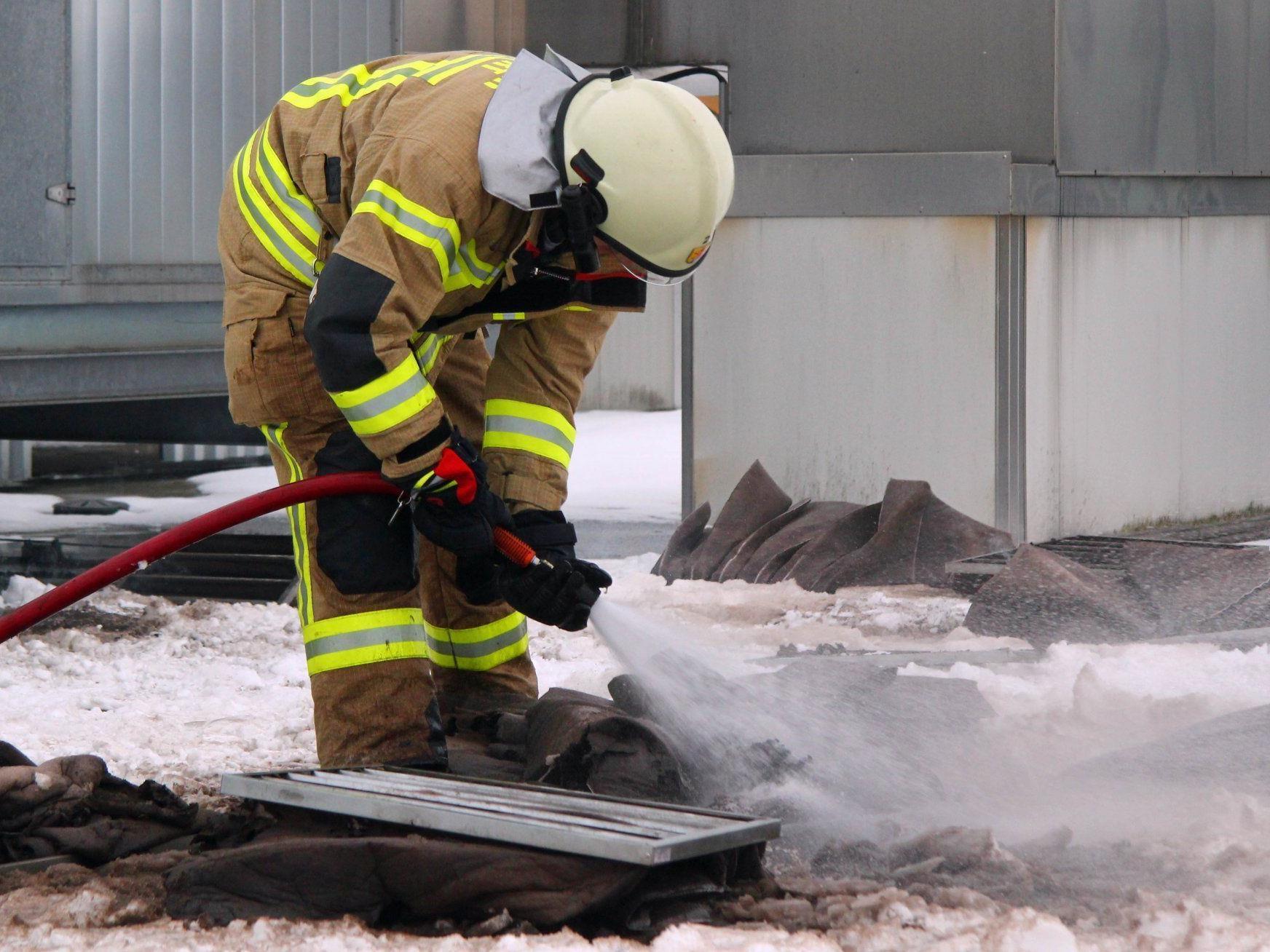 Filter einer Belüftungsanlage fingen Feuer.