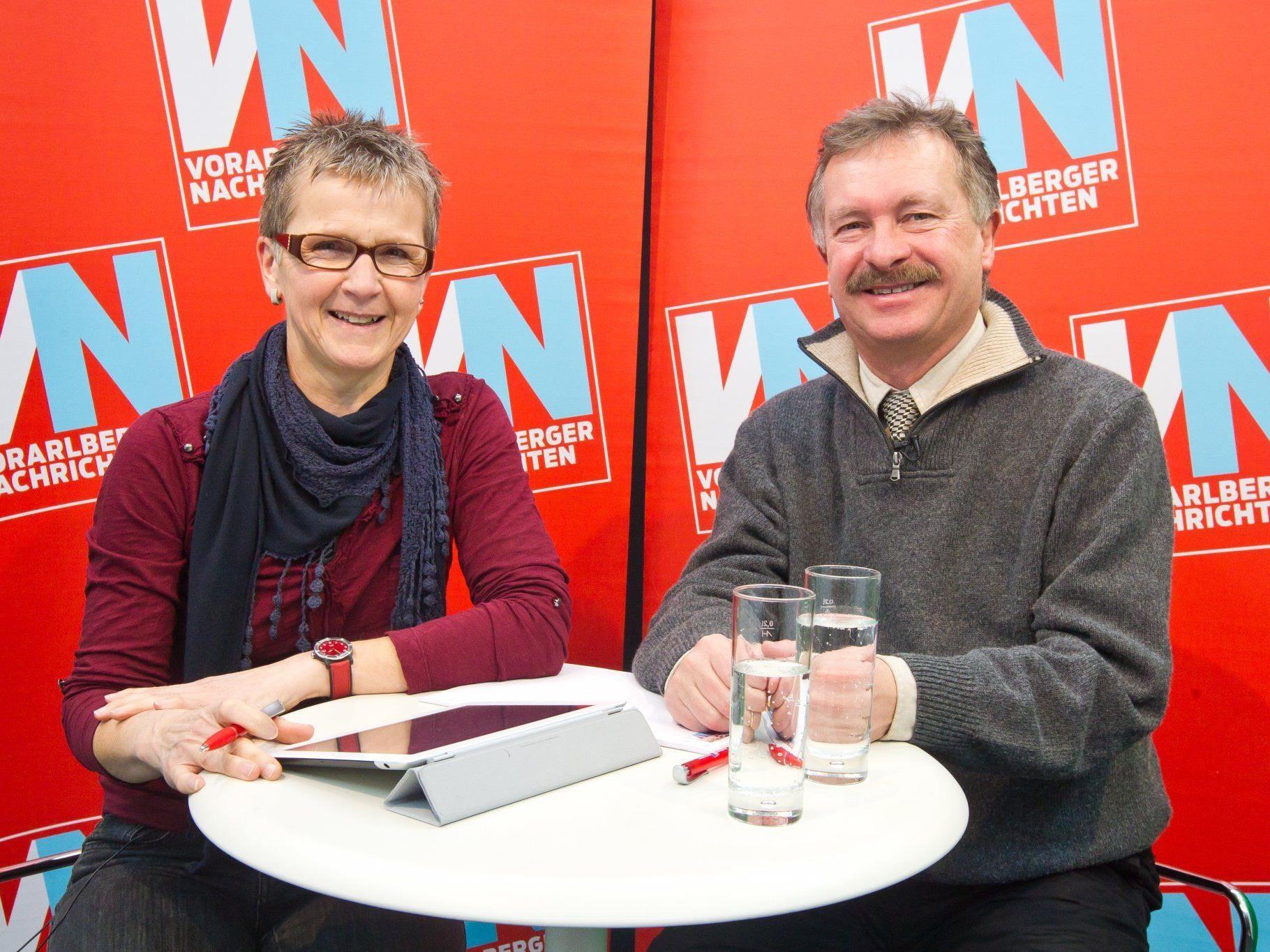 VN-Redakteurin Marlies Mohr mit Primar Heinz Drexel im Videochat.