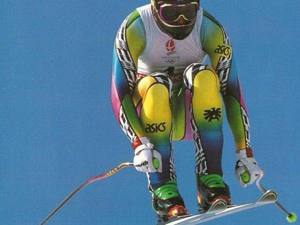 Patrick Ortlieb auf der Fahrt zu Gold: Bei den Winterspielen 1992 gelang ihm eine perfekte Fahrt.