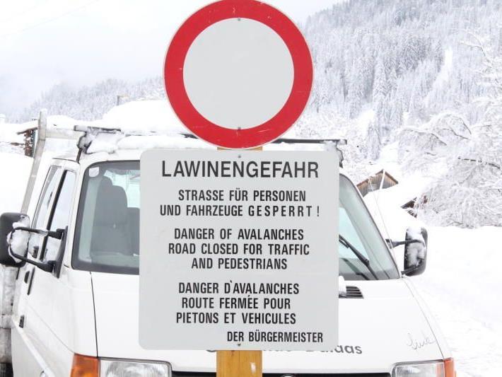 Große Lawinengefahr am Arlberg