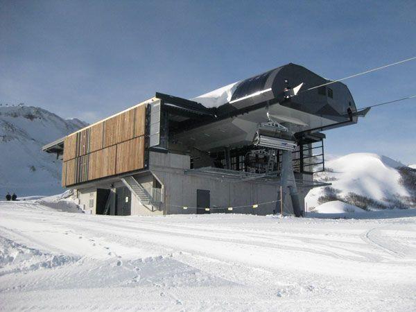 Soll Ausgangspunkt für Skischaukel in den Bregenzerwald werden: die Talstation der neu errichteten Weibermahdbahn.