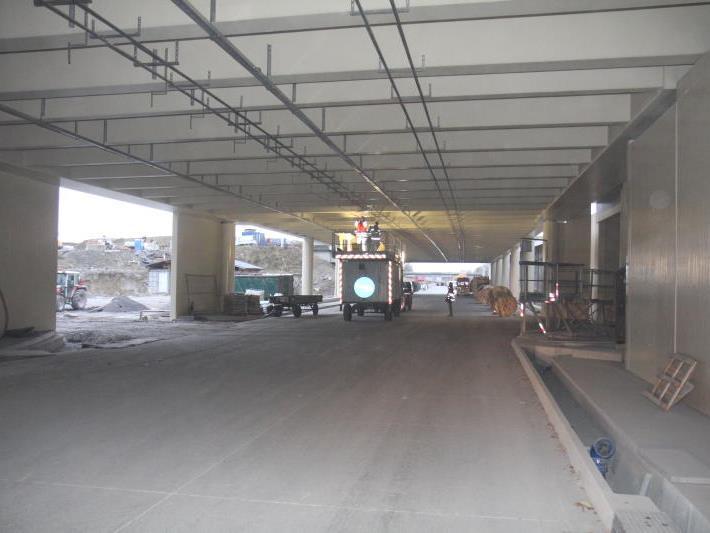Arbeitsunfall in der zweiten Pfändertunnelröhre forderte am Mittwoch einen Verletzten