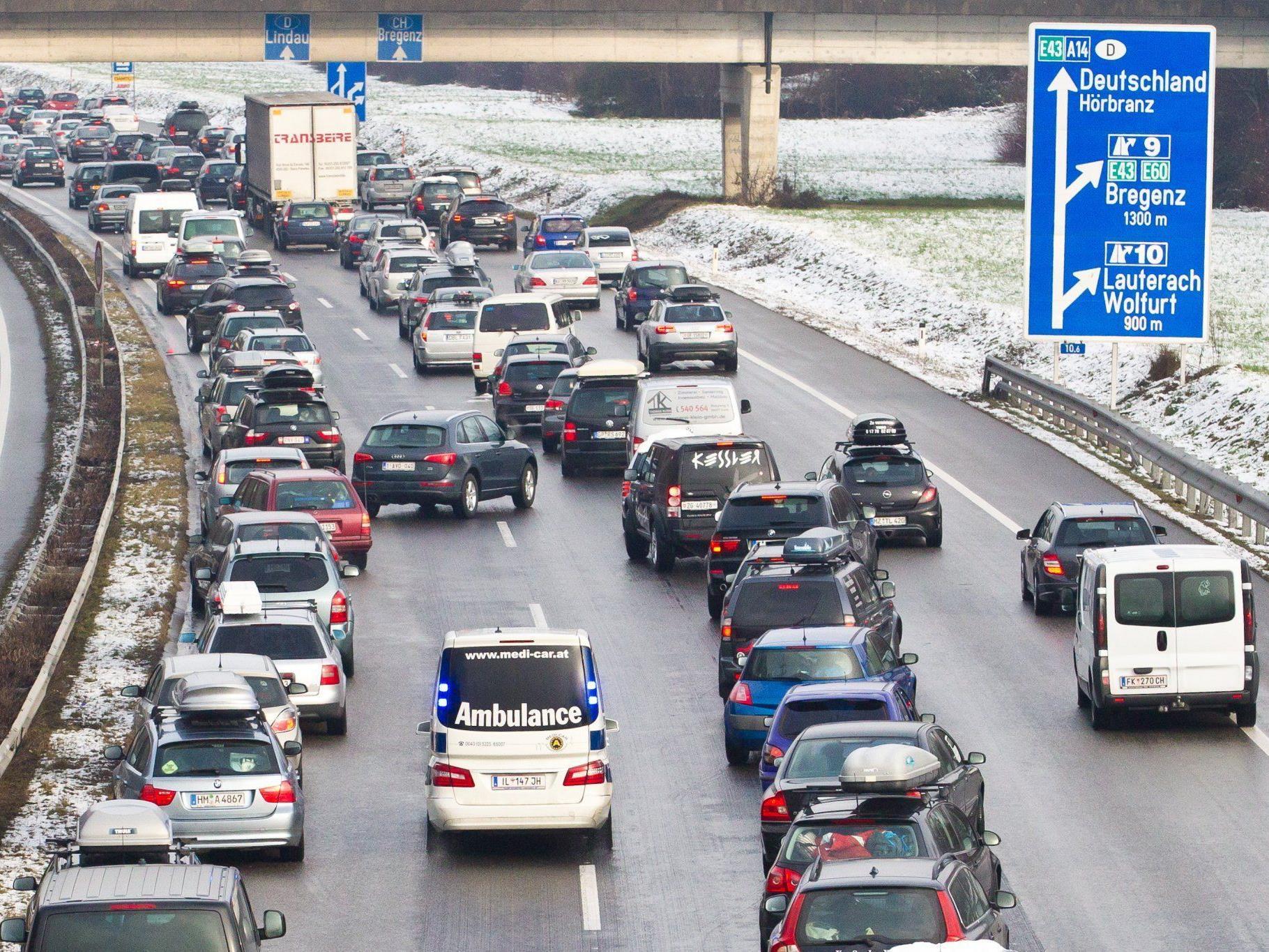 Vorarlbergs Autofahrer legen im Österreich-Vergleich die kürzeste Distanz zurück.