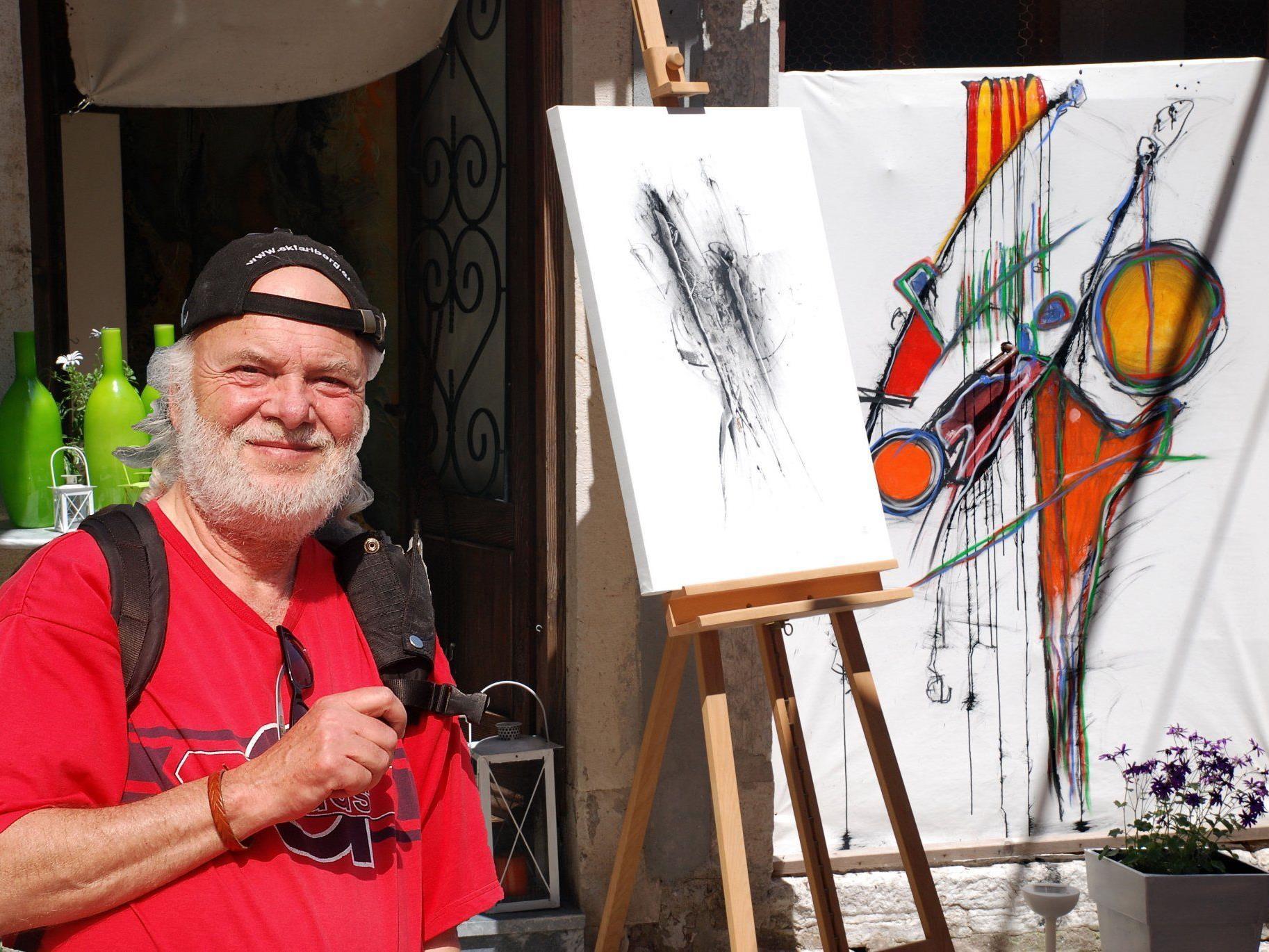 Dietmar Wanko auf der Spur der Farbe Rot.