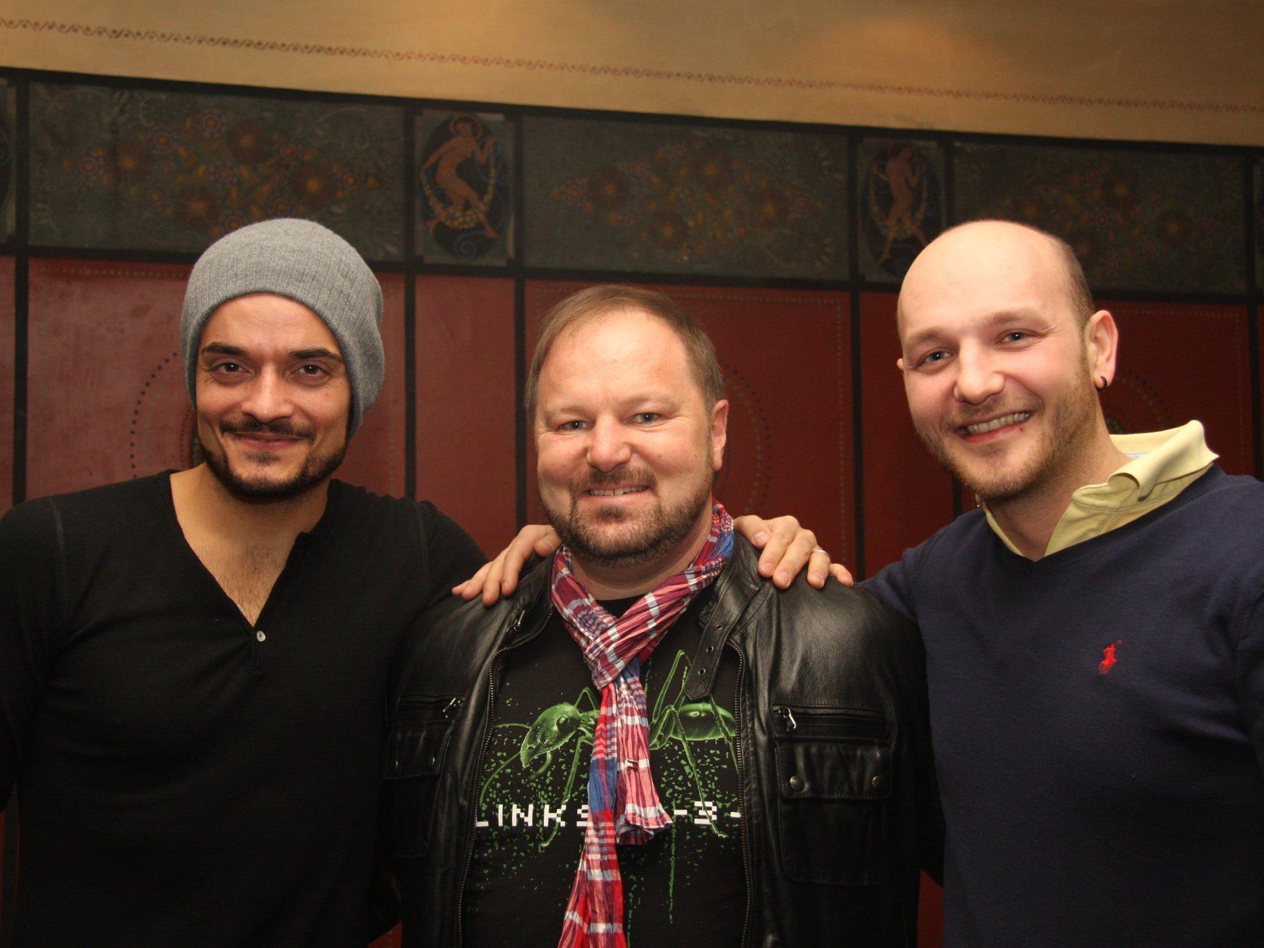 Giovanni Zarrella mit Günter Palaoro und DJ Harrycane.