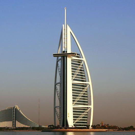 321 Meter hoch: Burj al Arab in Dubai.