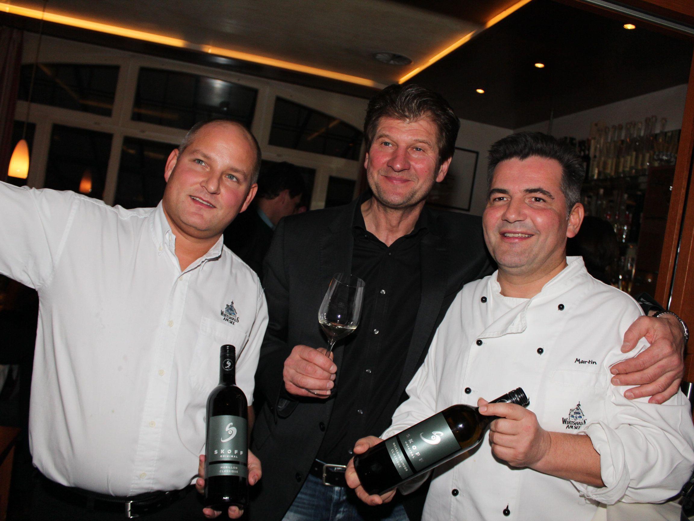 Thomas Zwerger, Walter Skoff und Martin Berthold.