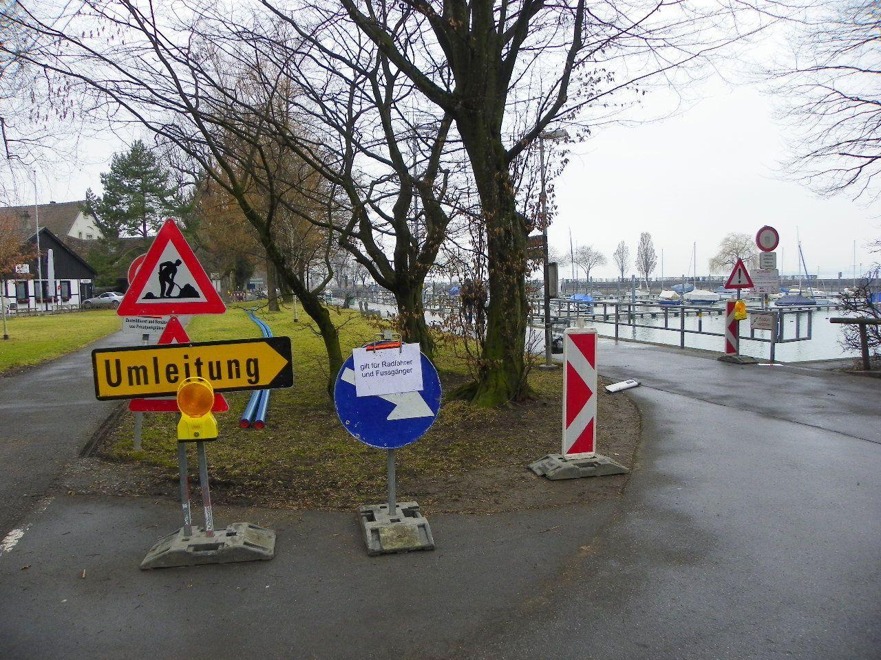 Sperre des Radweges