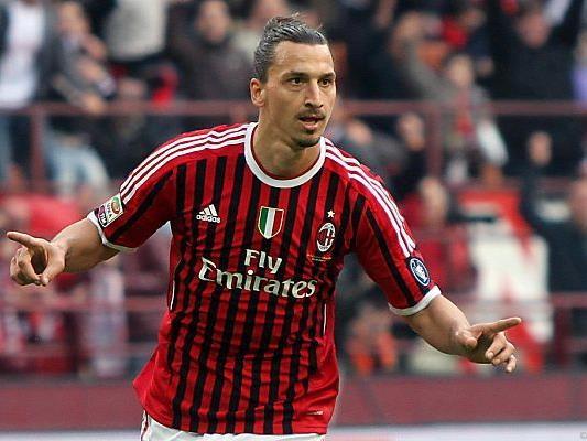 Zlatan Ibrahimovic traf zum 2:0 für Milan