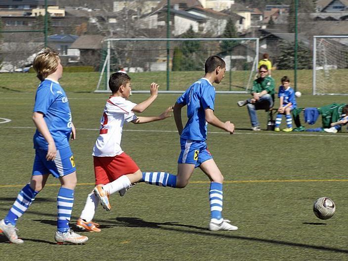 SPG Montafon U12 - FC Thüringen U12, Vorbereitungsspiel am 31. März 2012 in Schruns