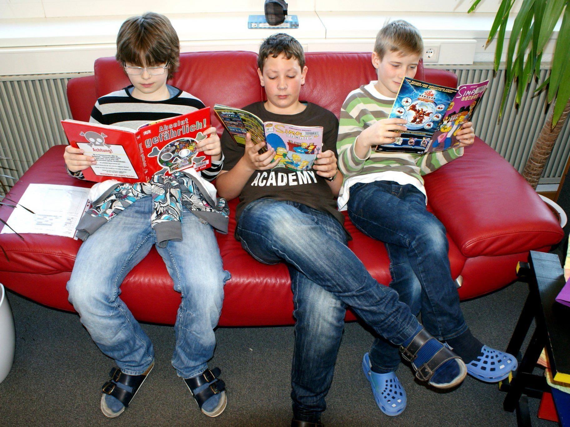 Lesen entspannt kolossal