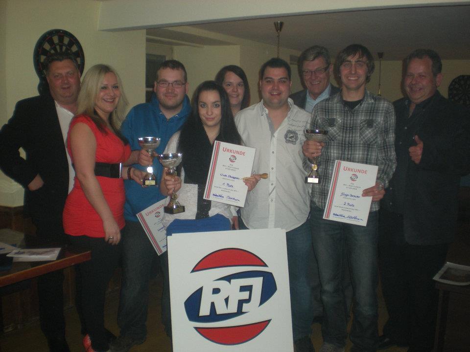 Die Sieger beim RFJ Dart-Turnier
