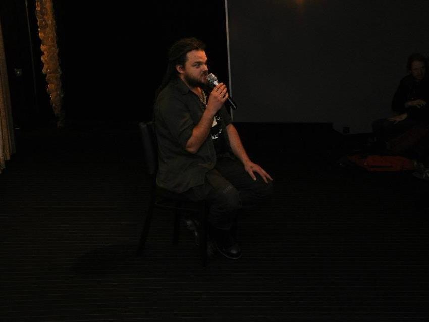 Chris Moser stand nach der Premiere für Fragen zur Verfügung.
