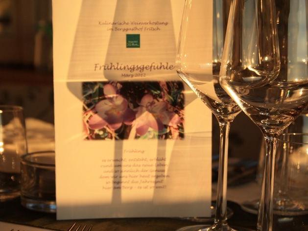 Kulinarische Weinverkostung im Berggasthof Fritsch