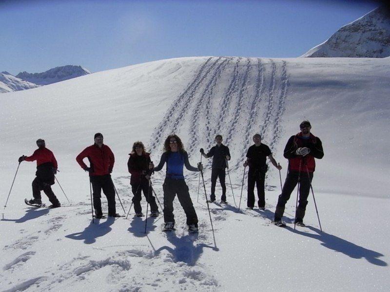 Beste Bedingungen herrschten nicht nur für die Schneeschuhwanderer.