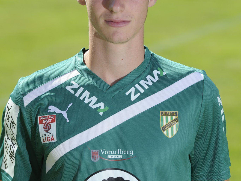 Bededikt Zech Profifußballer bei Austria Lustenau