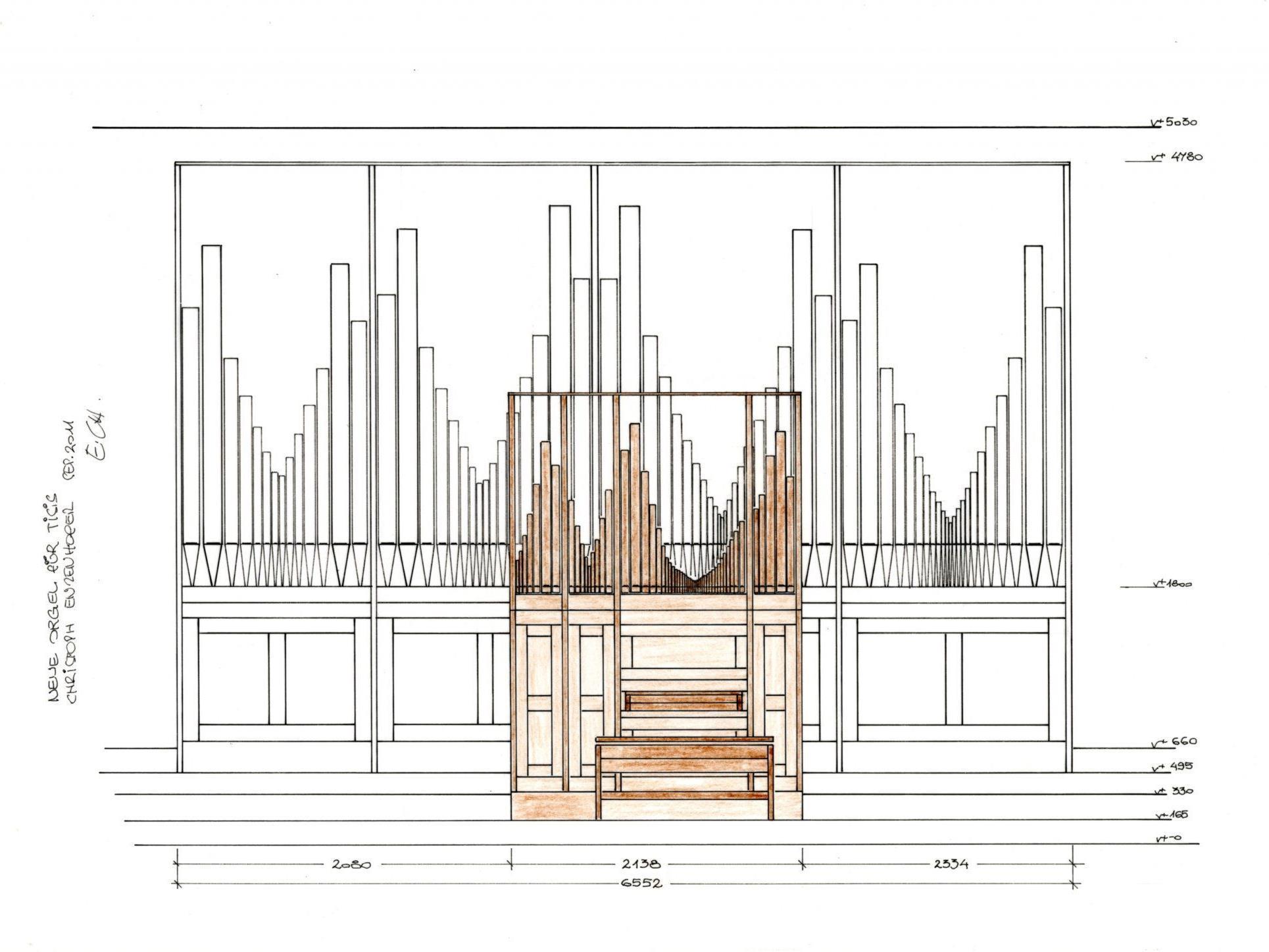 So sollte die Enzenhofer Orgel in der Tisner Pfarrkirche aussehen!