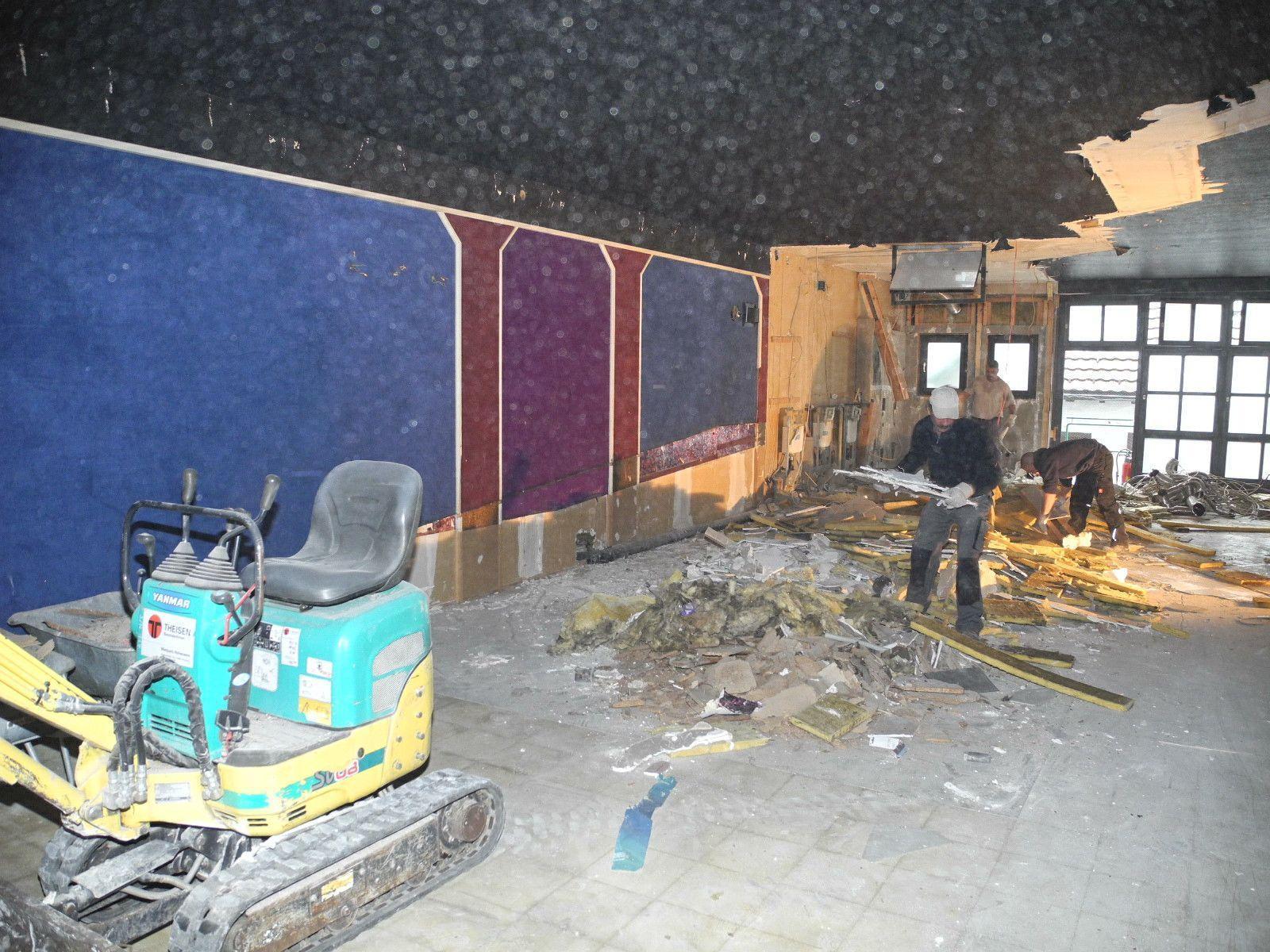 Das Kino Namenlos ist geschlossen und wird ausgeräumt