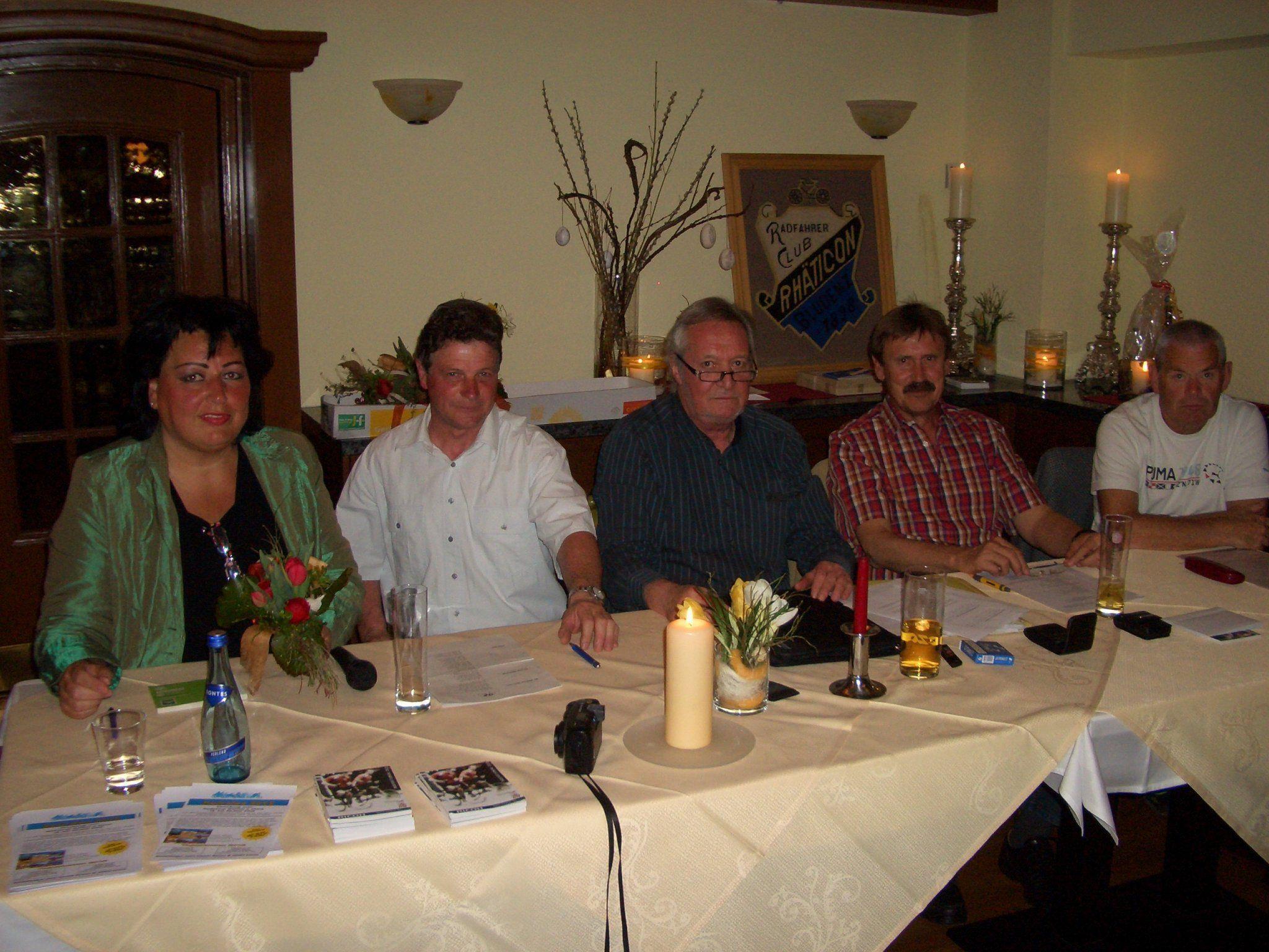Das Radfahrclubpräsidium legte Rechenschaft ab.