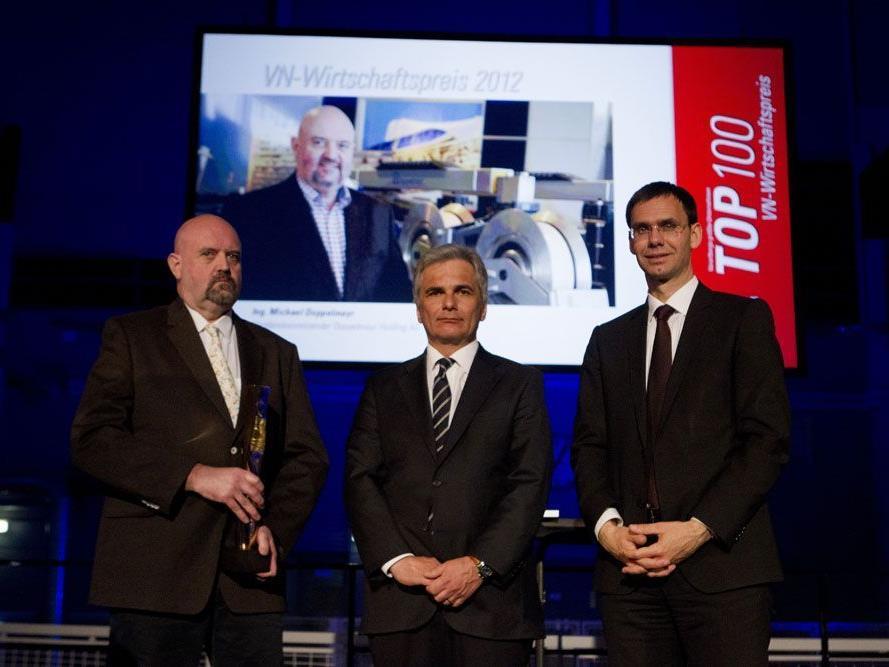 Die Jury begründete ihre Entscheidung damit, dass Michael Doppelmayr (l.) alle fünf Kriterien für die Verleihung des VN-Wirtschaftspreises in höchstem Maße erfüllt.