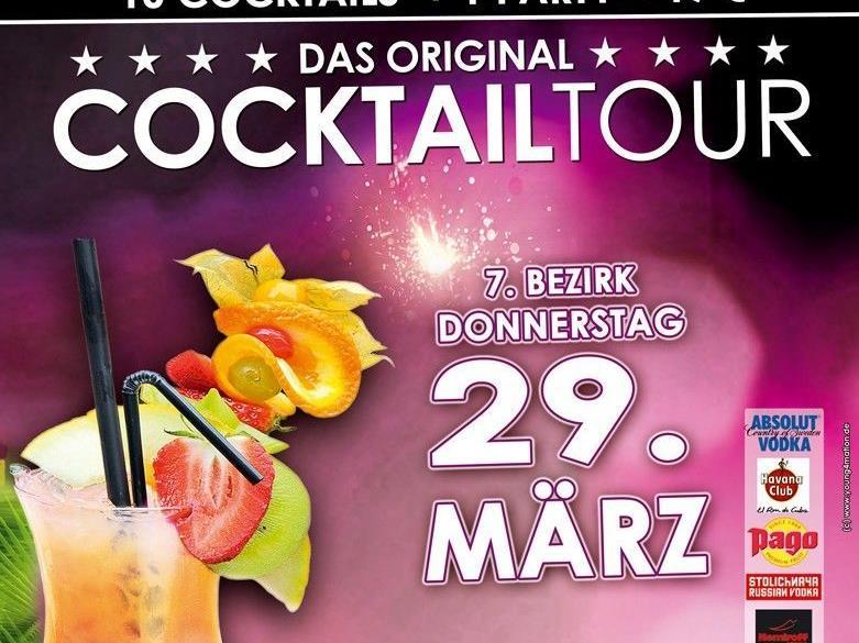 Am 29. März gibt es wieder eine Cocktailtour.