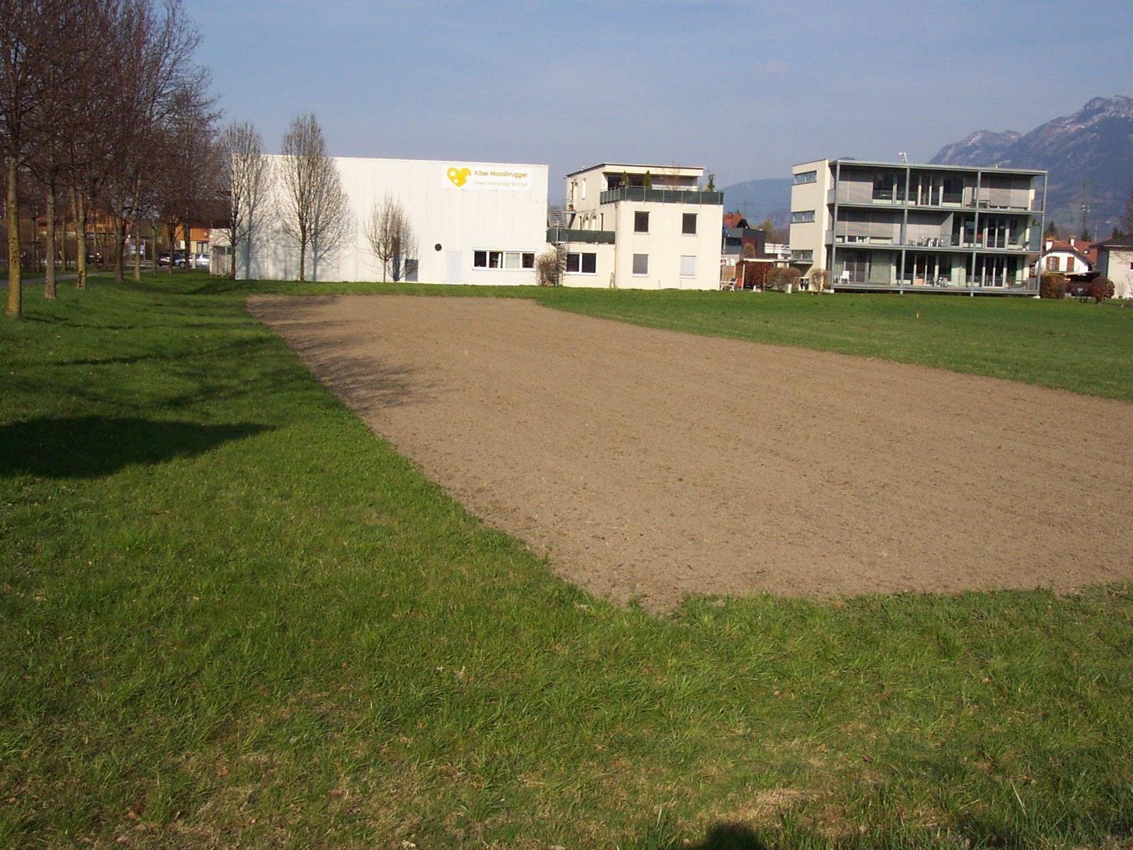 """Ein  Blick auf das Grundstück ,,Mähderle"""" an der ,,Neuen Landstrasse""""."""