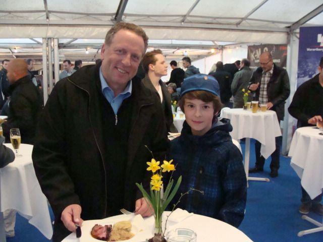 AK-Präsident Hubert Hämmerle mit Sohn