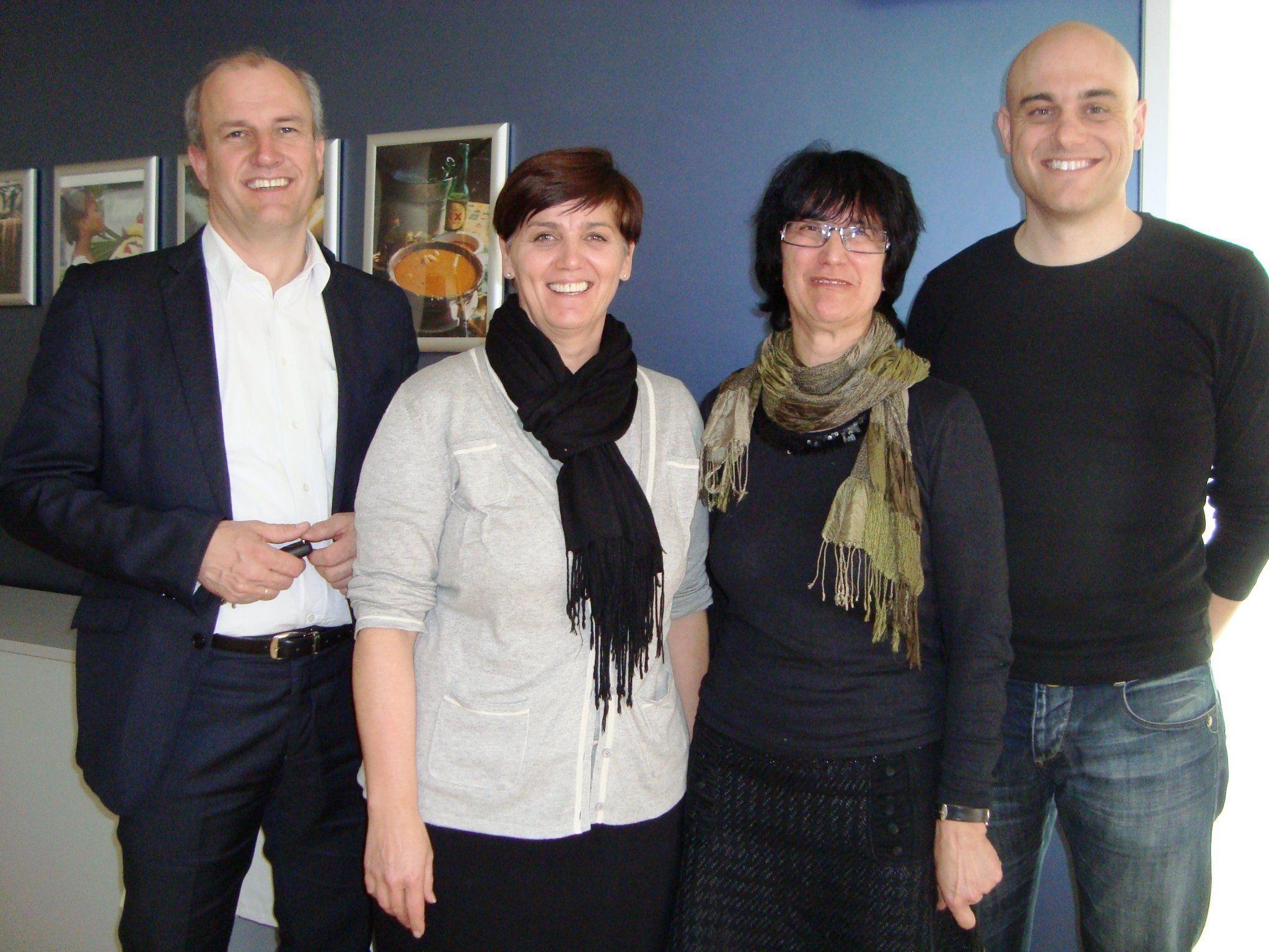 Direktor Andreas Kappaurer, Andrea Huber, Kathi Kappaurer und Klaus Gmeiner