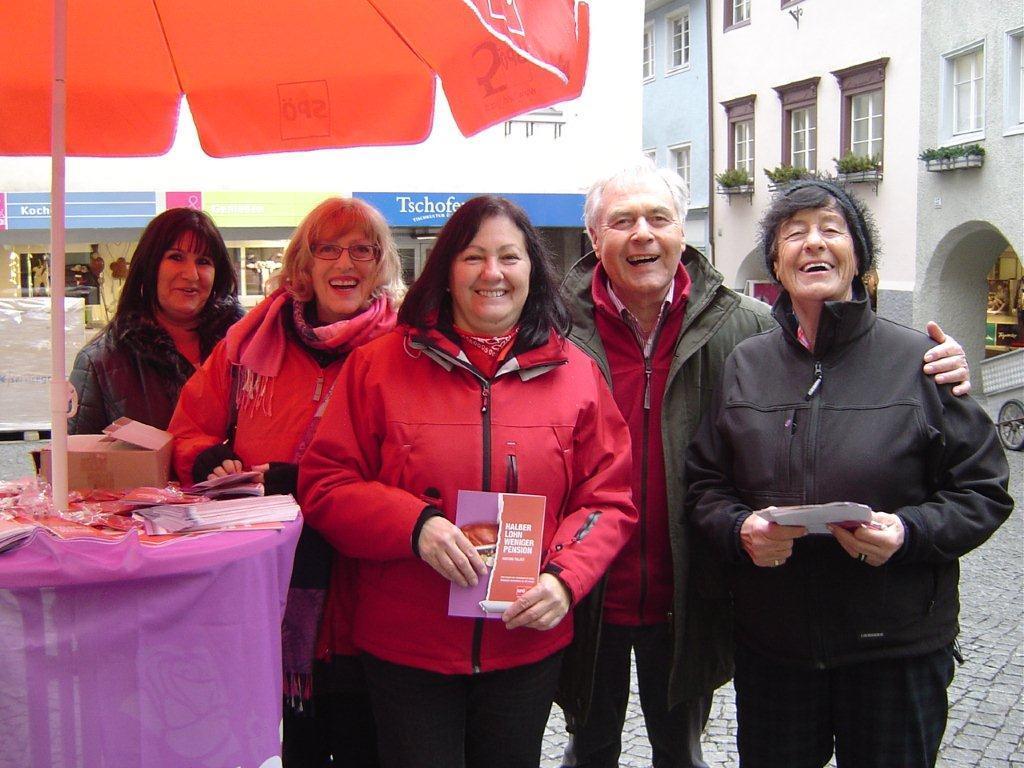 Die SPÖ-Kampagne war in Bludenz ein voller Erfolg.