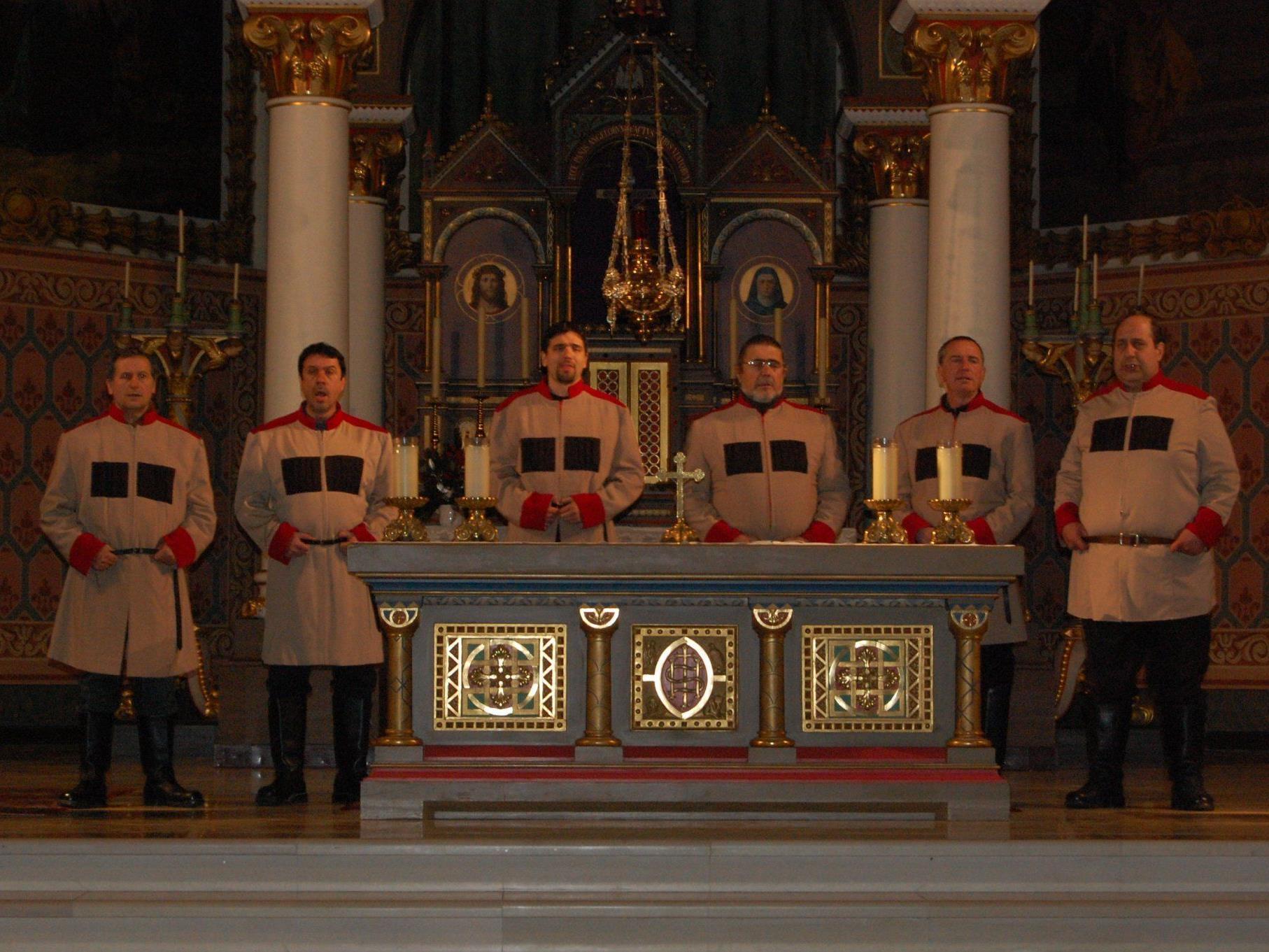 """Die """"Zarewitsch Don Kosaken"""" gastierten in der Pfarrkirche in Schruns."""