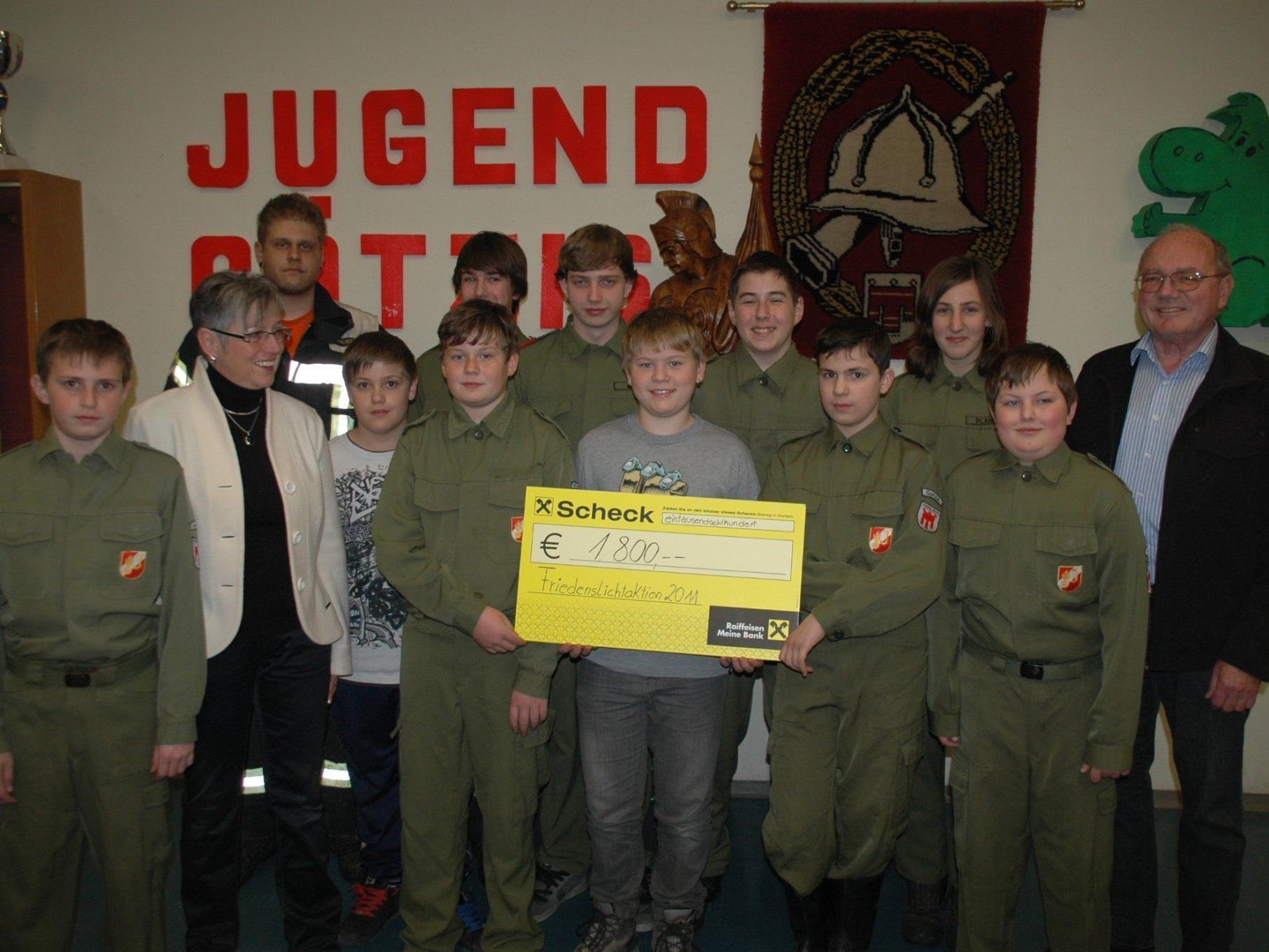 Die Feuerwehr Jugend spendete 1 800.- Euro für Bedürftige aus der Region
