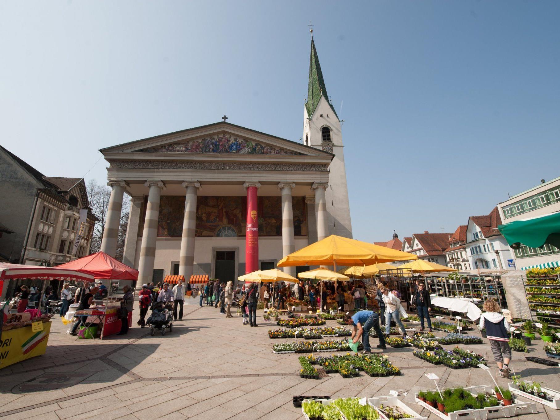 Jede Menge los am Samstag beim Markt in Dornbirn