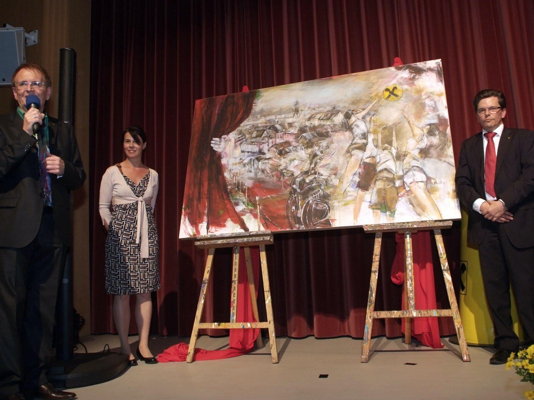 Ein Bild von Maria Gabriel soll Hanspeter Feuerstein an seine Raiffeisenzeit erinnern.
