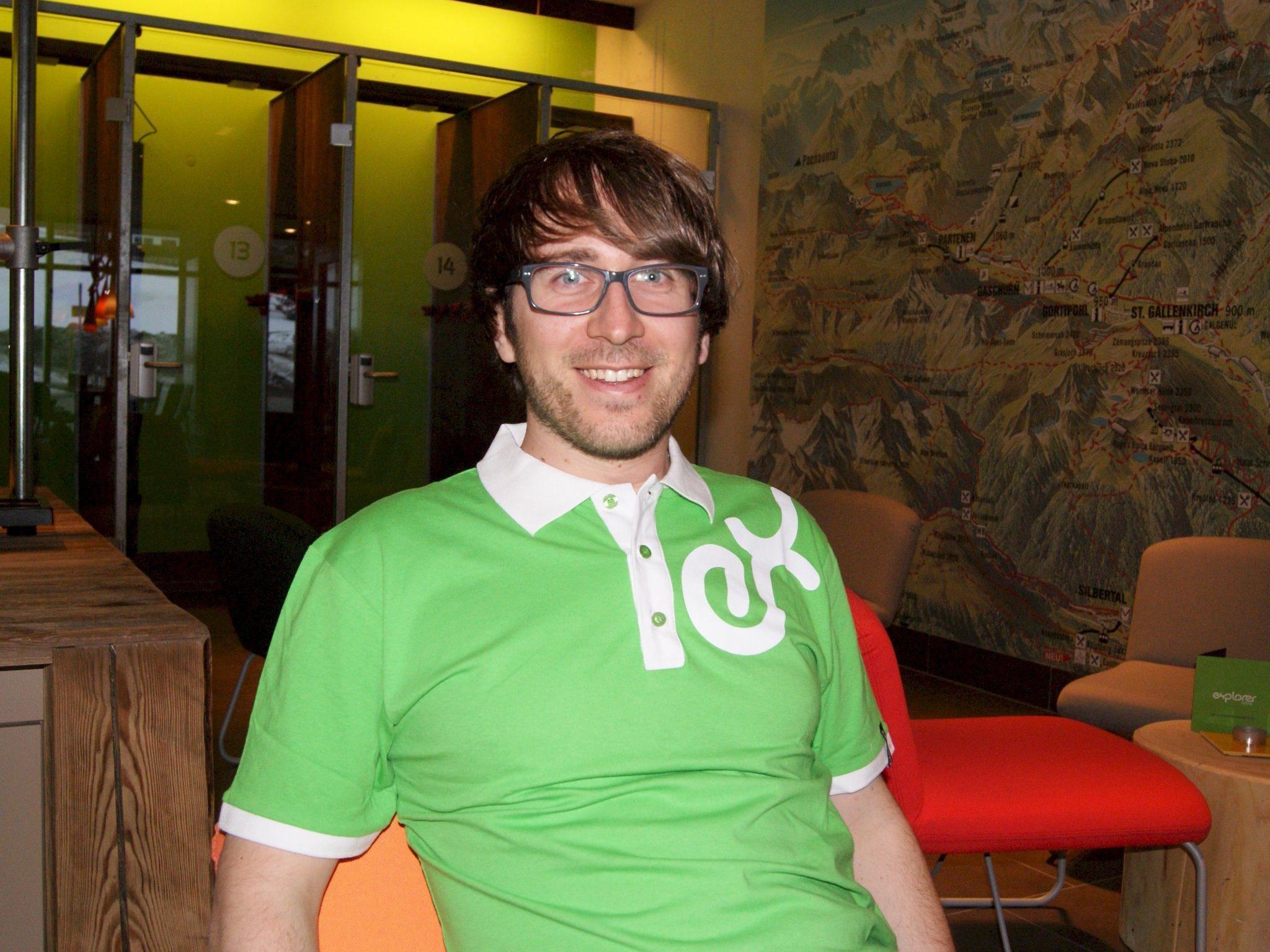 Daniel Kinast - Manager des Explorer Hotels Montafon.