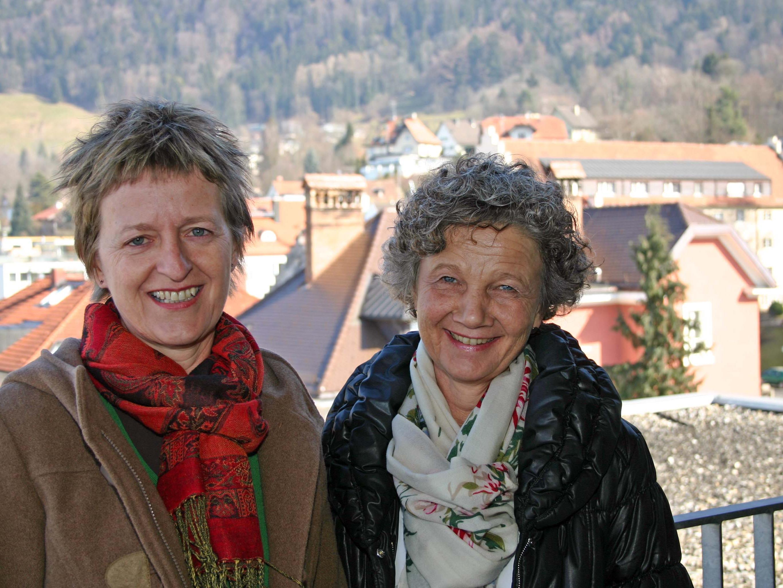 Die Case-Managerinnen Ursula Marte vom Amt der LH Bregenz und Sr. Lydia Hagspiel vom Krankenpflegeverein Bregenz.