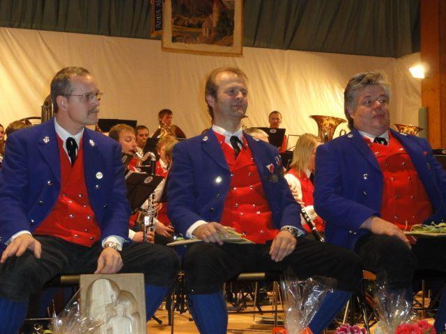 Die drei Jubilare Manfred Fetz, Gustl Sorgo und Norbert Moosbrugger.