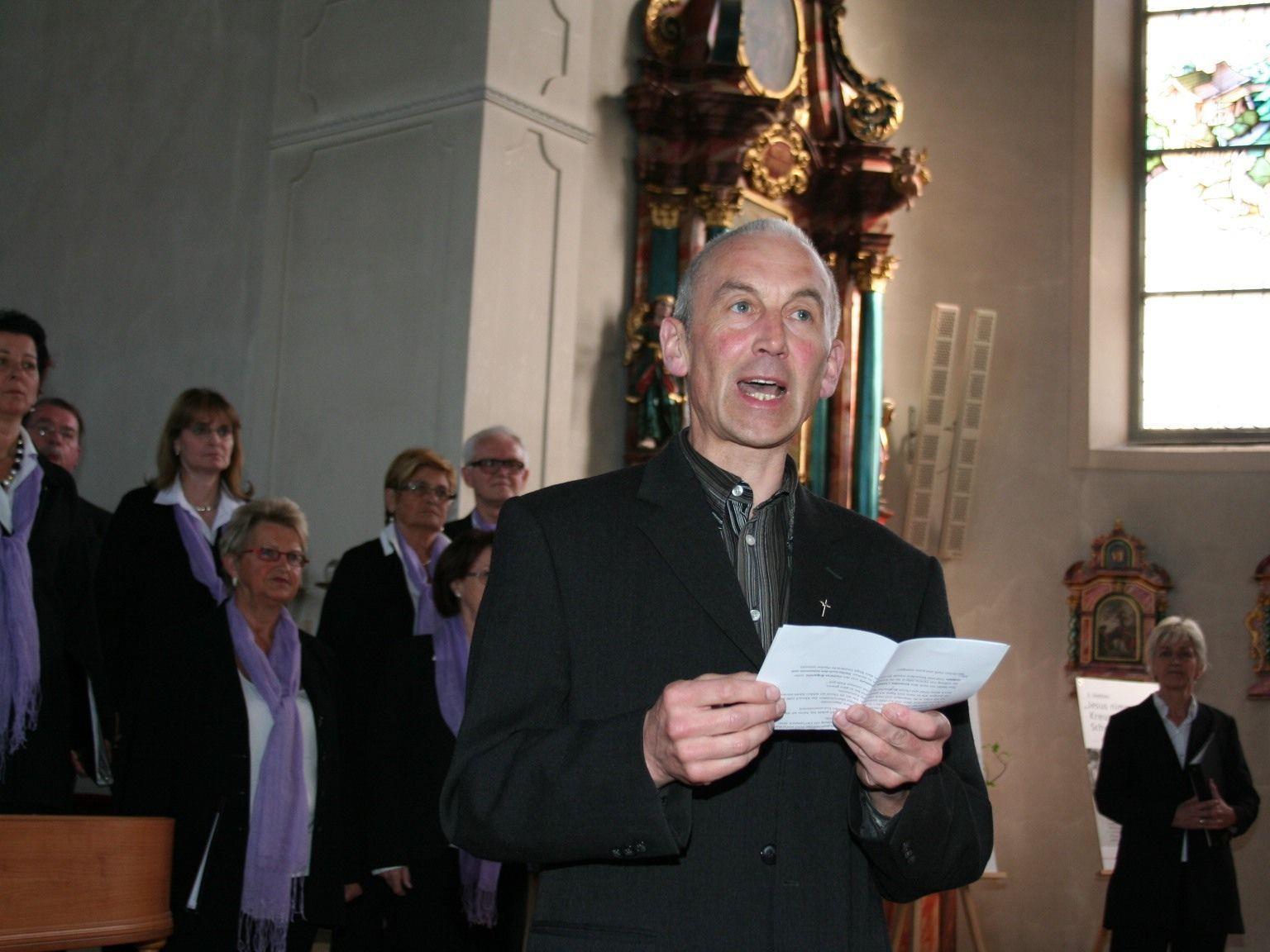 Pfarrer Paul Burtscher hofft auf viele Konzertbesucher in Bildstein.