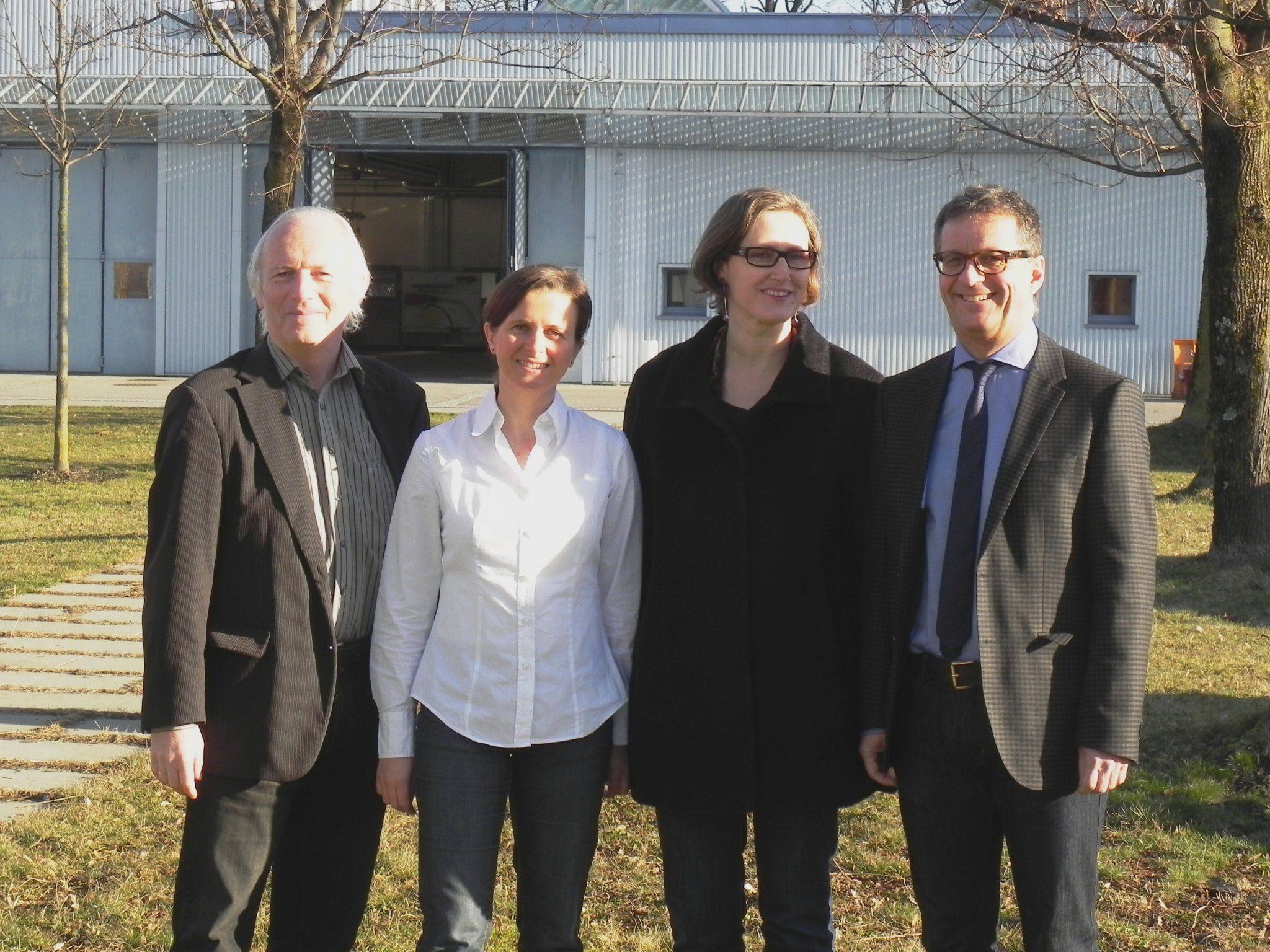 v.l.: Dr. Stefan Allgäuer, Isabel Meunier BA, Edith Breuss, Günther Watzenegger