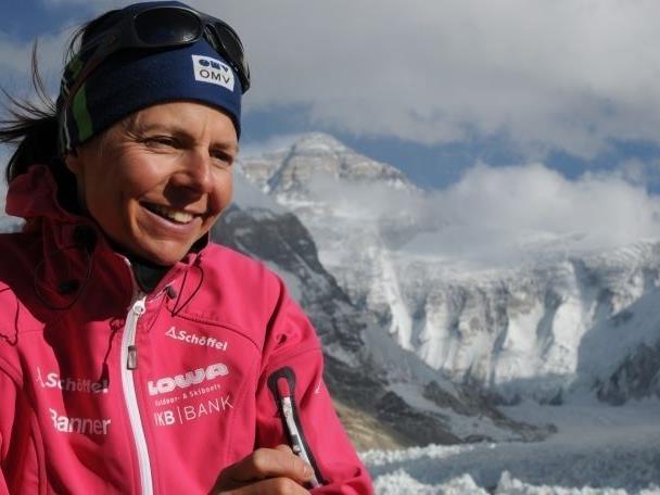 Die Extrembergsteigerin Gerlinde Kaltenbrunner ist zu Gast beim Bergfilmfestival in Bludenz.
