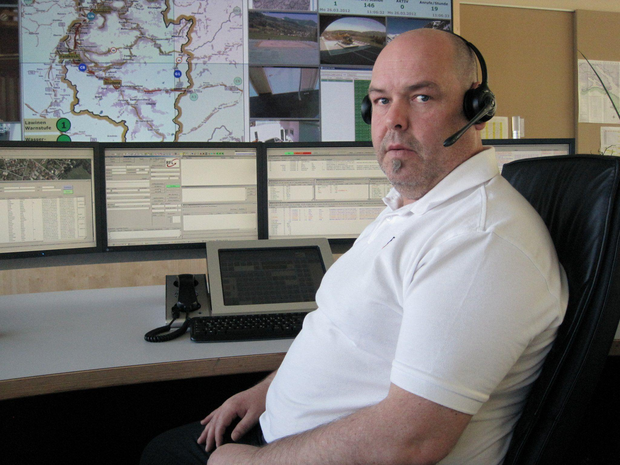 Karlheinz Häsele hat die Erstalarmierung zum Flugzeugabsturz über dem Bodensee veranlasst.