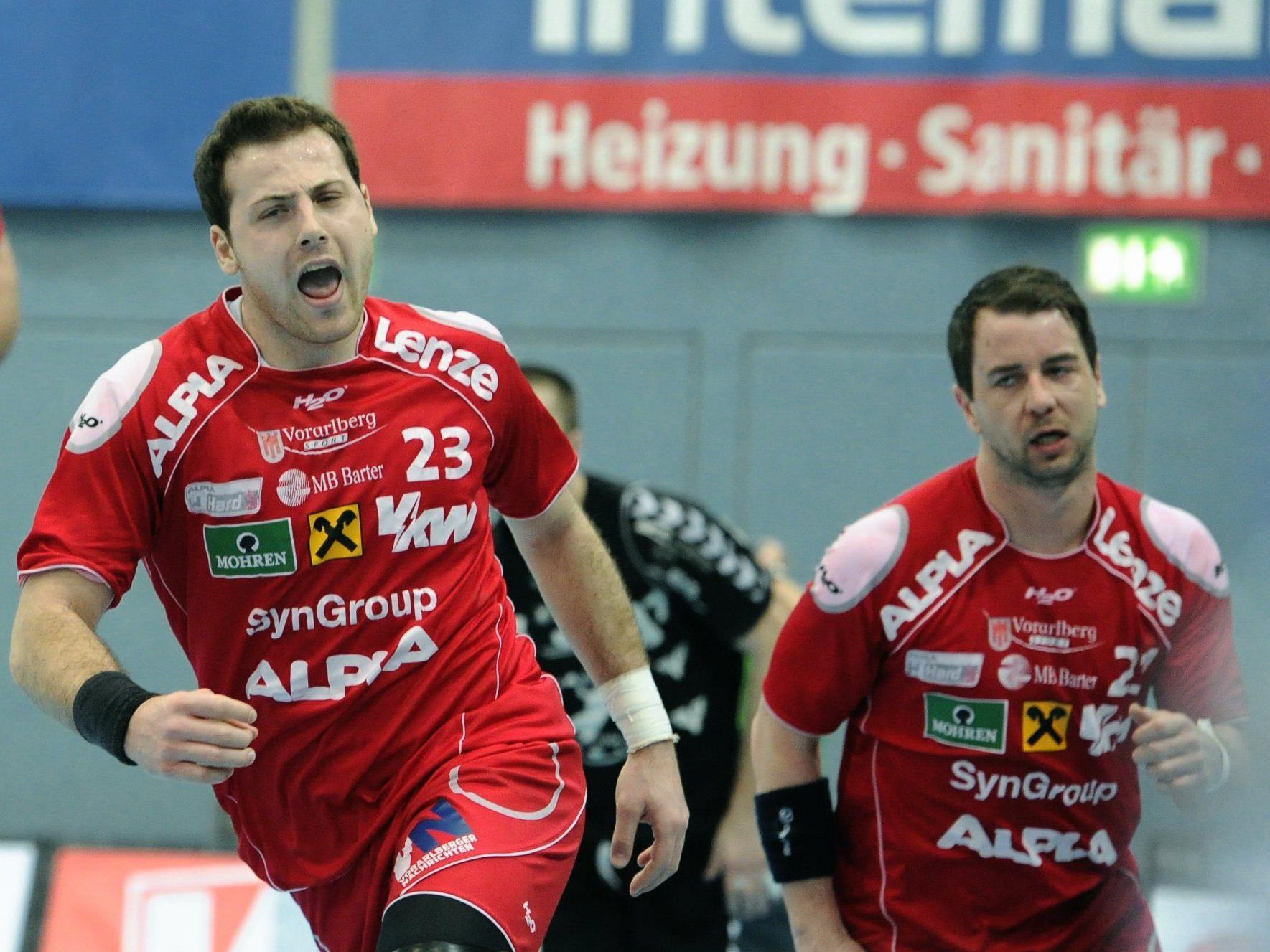 """Hard kommt mit dem dritten Sieg in einem """"Ländle""""-Derby gegen Bregenz in Folge in die Wachau."""