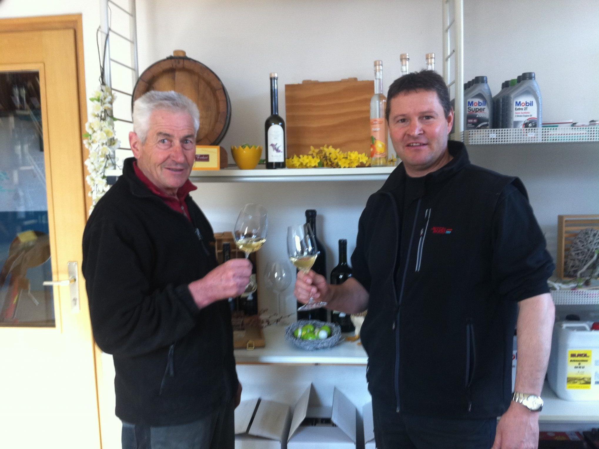 Gebhard und Sohn Markus freuen sich auf Ihren Besuch im Roßhag